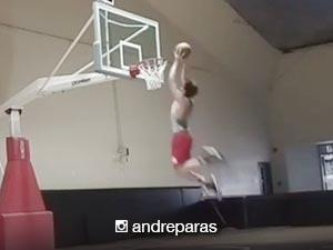 Andre Paras proves that he still has his hardcourt skills