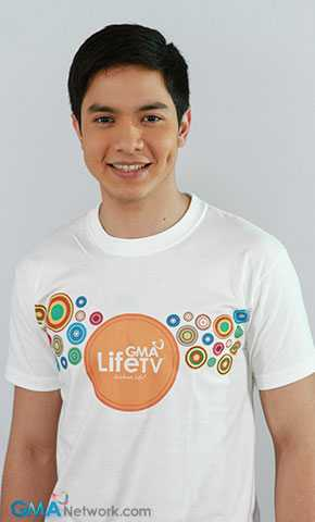 Alden Richards promoting GMA Life TV