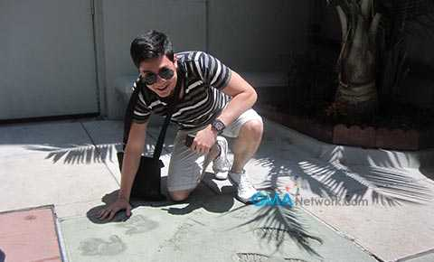 Alden Richards enjoying Hollywood during the premiere of 'The Road' in Los Angeles, California