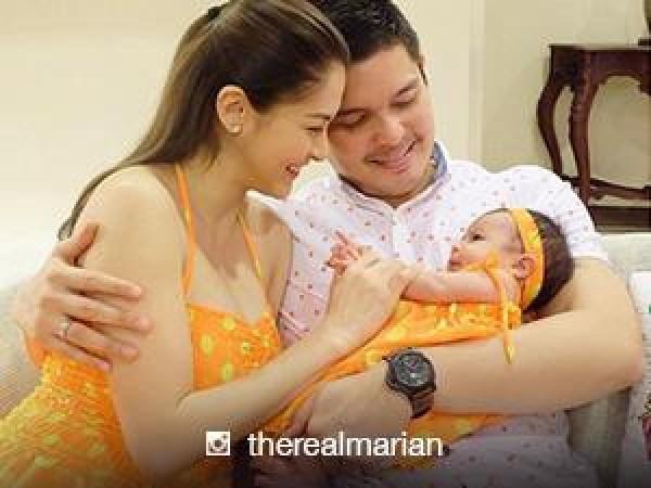 marian rivera and baby zia wear matching polka dot dresses