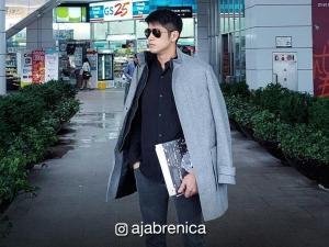 LOOK: Aljur Abrenica in Busan, Korea for 21st Busan International Film Festival