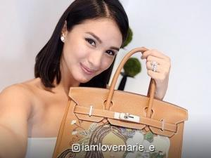 LOOK: Heart Evangelista's finished painting on Kim Chui's Hermes