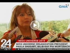 WATCH: Miss Universe Orgnization President Paula Shugart, bilib kay Pia Wurtzbach