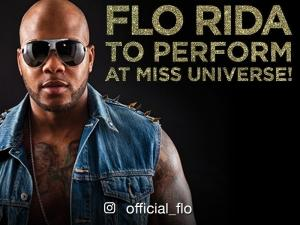 Grammy Award nominee and multi-platinum Hip-Hop artist Flo Rida to perform at Miss Universe