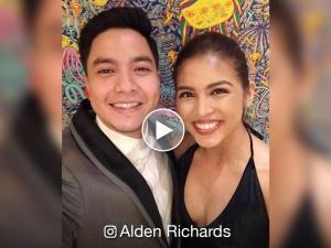 WATCH: Netizens, kinilig sa special message ni Maine Mendoza kay Alden Richards