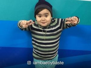 WATCH: Two-month-old Bae-by Baste, reacting to mom's singing