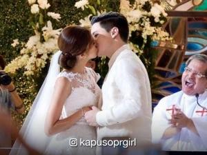 WATCH: Alden Richards and Maine Mendoza's lip-lock at #AlDubWedding