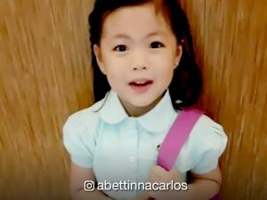 Bettinna Carlos shares videos of Gummy on her first day in school