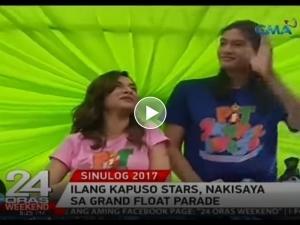 WATCH: Ilang Kapuso stars, nakisaya sa grand float parade sa Sinulog