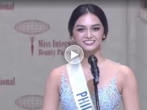 WATCH: Ang pak na pak na sagot ni Kylie Verzosa sa speech round ng Miss International