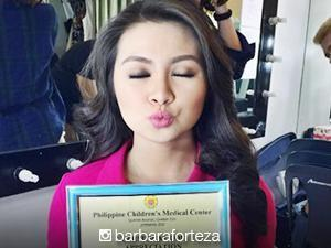 Barbie Forteza receives Certificate of Appreciation from Philippine Children's Medical Center