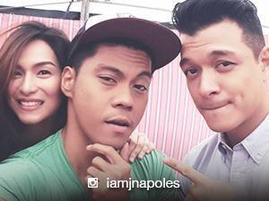 Jerald Napoles congratulates Jennylyn Mercado and Jericho Rosales
