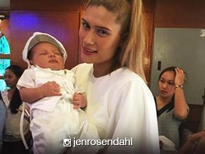 LOOK: Anak ng 'Pepito Manaloto' star Jen Rosendahl bininyagan na!