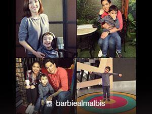 LOOK: Barbie Almalbis and her son snaps a photo with AlDub