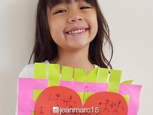 Marc and Danica Pingris's daughter, Caela, writes a V-day message for daddy and mommy