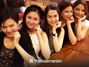 Marian Rivera spotted bonding with 'The Rich Man's Daughter' girls