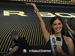 Pia Wurtzbach works as Super Bowl correspondent