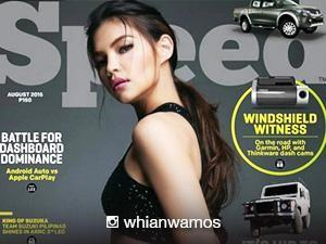 Rhian Ramos is the cover girl for a tech magazine