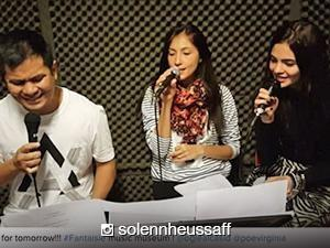 WATCH: Solenn Heussaff and Lovi Poe sing with Ogie Alcasid for 'Fantaisie'