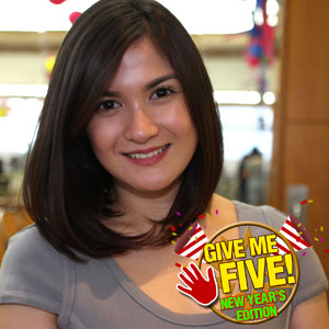 GIVE ME FIVE featuring Camille Prats (New Year edition) | GMANetwork.com - Entertainment - Home of Kapuso shows and stars - Articles - give_me_five_featuring_camille_prats__new_year_edition__1388388189