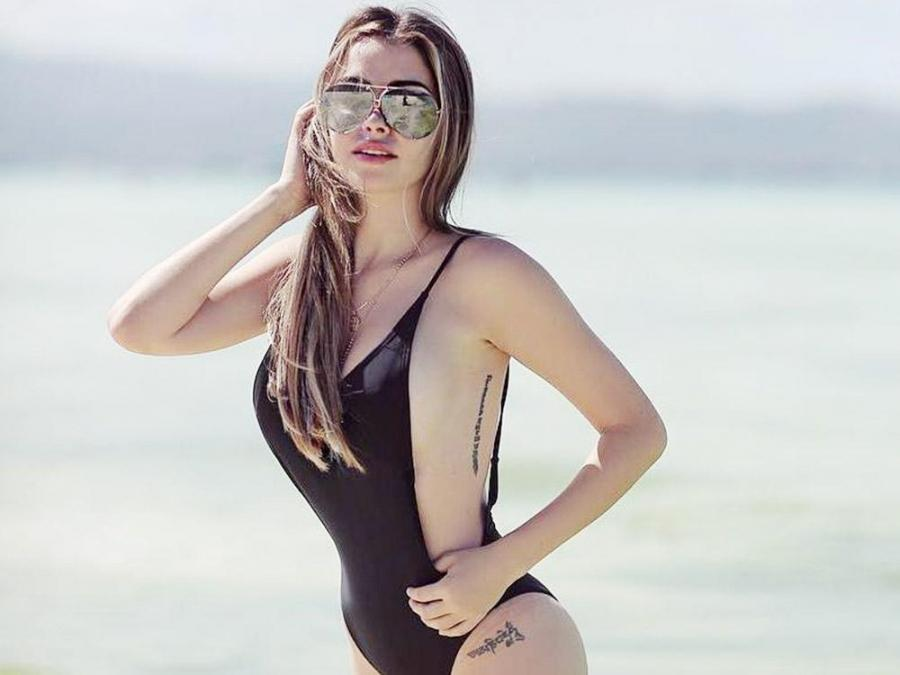 daiana menezes wows in swimwear celebrity life gma entertainment
