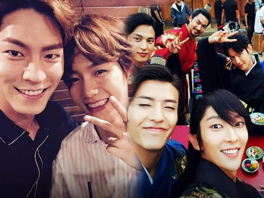 behind the scenes the cast of scarlet heart scarlet