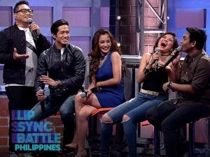 LOOK: Aljur Abrenica & Kris Bernal versus Sef Cadayona & Louise delos Reyes on the finale of 'Lip Sync Battle Philippines'