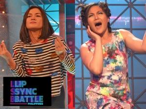 Queens of Drama Gladys Reyes at Camille Prats, rehearse for 'Lip Sync Battle Philippines' match
