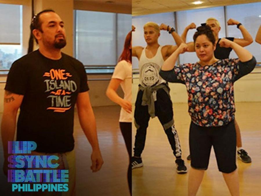 IN PHOTOS:  Manilyn Reynes and Keempee de Leon rehearse for 'Lip Sync Battle Philippines'