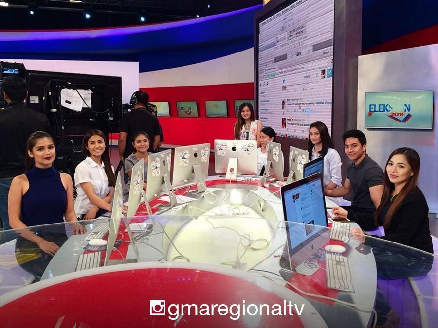IN PHOTOS: Kapuso stars volunteer at the GMA Eleksyon 2016 Coverage Action Center