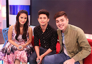 Kilig moments with James Reid and Andre Paras on 'Startalk'