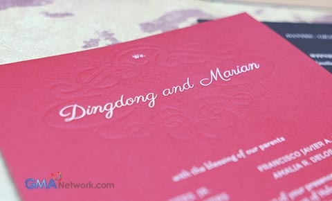 Look inside dingdong and marians wedding invitation showbiz look inside dingdong and marians wedding invitation stopboris Images