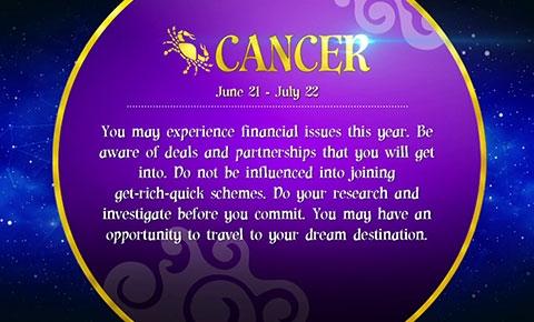 Horoscope cancer 2015 for Cancer horoscope elle