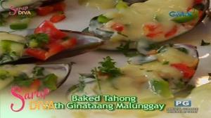 Sarap Diva: Baked Tahong with Ginataang Malunggay by Sunshine Dizon