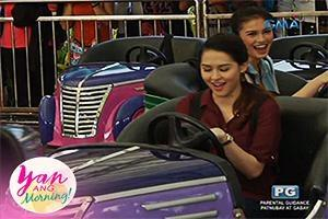 Yan ang Morning!: Bump car ride with the Kapuso loveteams