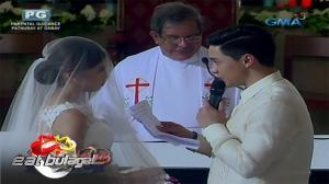 Eat Bulaga: Alden Richards and Maine Mendoza's emotional wedding vows