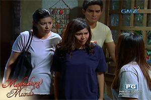 Magkaibang Mundo: Takbo, Pepay at Amanda, takbo!