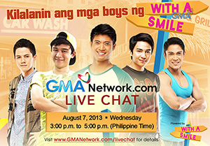 Live Chat: With the boys of 'With a Smile' August 7, 2013
