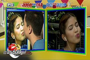 Eat Bulaga: AlDub, ni-rehearse ang kissing scene para sa kanilang pelikula