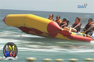 'Bubble Gang' Behind-the-Scenes: The flying banana boat ride