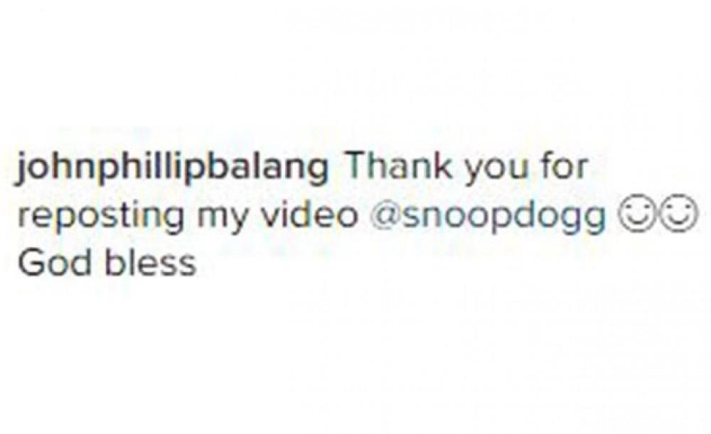 Balang Captures The Attention Of International Recording Star Snoop
