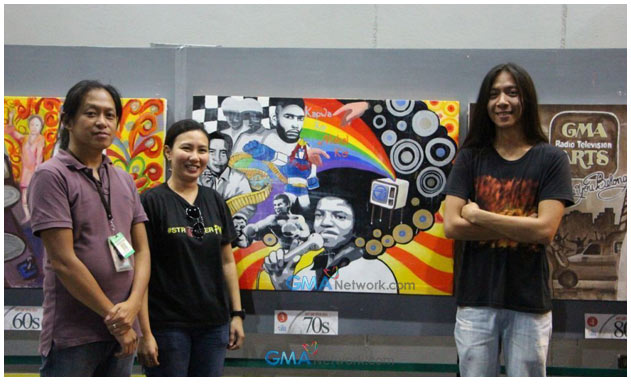 Heart evangelista kuh ledesma and nemi miranda witness for Ano ang mural painting
