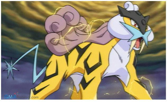 Pokemon Raikou Legend Of Thunder