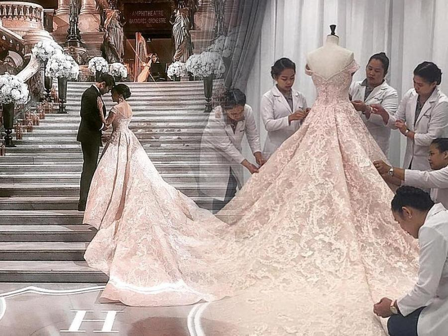 LOOK: Dra. Vicki Belo\'s Michael Cinco wedding gown | Showbiz News ...
