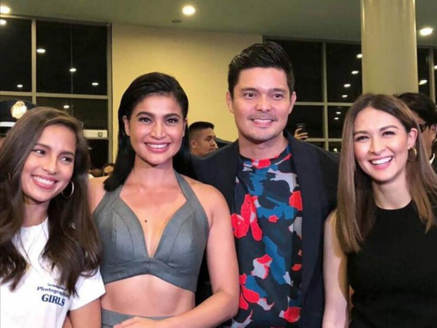 Look Marian Rivera And Jasmine Curtis Support Dingdong Dantes Anne Curtis Movie Premiere