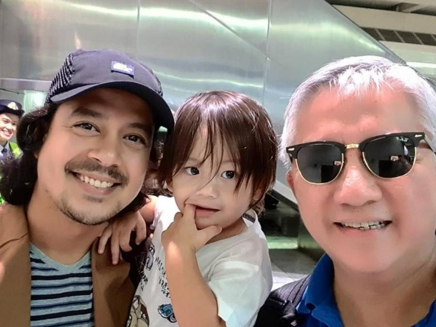 LOOK: John Lloyd Cruz spotted with son Elias in Cebu