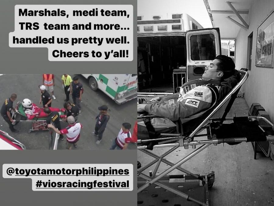 WATCH: Troy Montero figured in race car accident | Celebrity