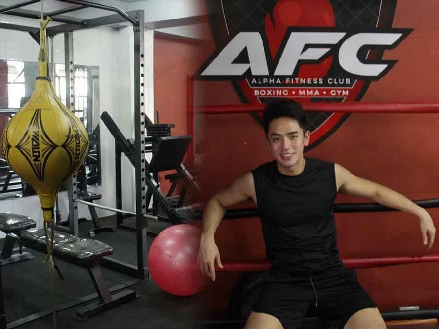 IN PHOTOS: David Licauco gives a tour of MMA and Boxing gym