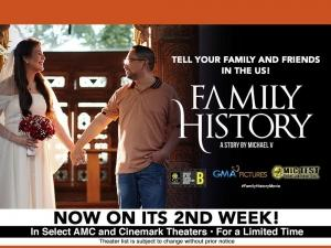 Family History is on its second week in select theaters in the US