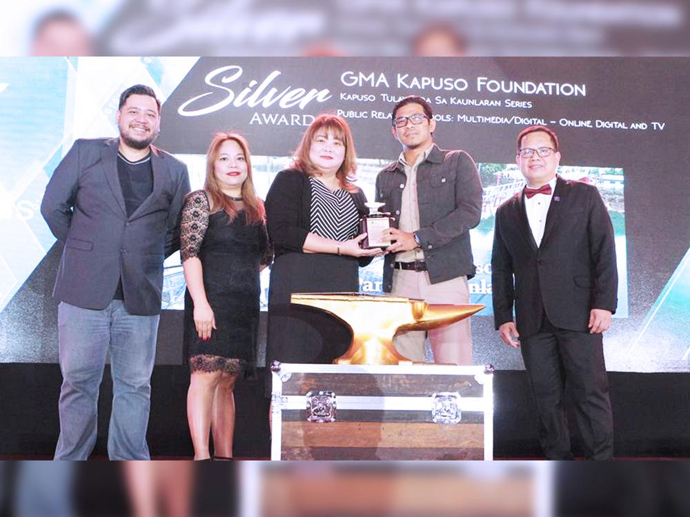 (L-R) PRSP Secretary Mikey S. de Quiros, PRSP Director Ana Pista, GMAKF EVP and COO Rikki Escudero-Catibog, GMAKF Senior Project Engineer Edgar Eniego, and PRSP Vice President-Internal and 54th Anvil Awards Chairman Andy B. Saracho.